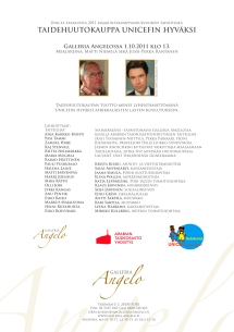 Charity auction in Galleria Angelo