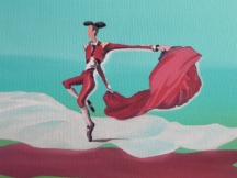 "Detail from painting ""The dancing Matador"""