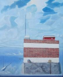 "Zamuel Hube ""A stable landmark"", Oil on canvas 2012, 65 x 54 cm"