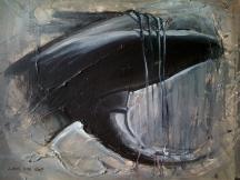"""Zamuel Hube """"addicted"""", Oil and acryl on canvas 2009, 46 x 55 cm"""