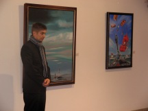 My paintings in Casa museu Teixeira Lopez in Porto.