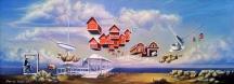 "Zamuel Hube ""Window to the freedom"", Oil on canvas 2011, 30 x 80 cm"