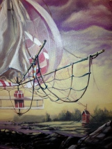 """Detail from painting Zamuel Hube """"The great Wind Factory on the white-river"""" Oil on canvas 2013"""