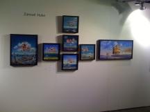 Hube's paintings in Oljemark's stand in ArtHelsinki 10