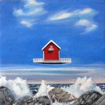 "Zamuel Hube ""The ocean of loneliness"", Oil on canvas 2012, 30 x 30 cm"