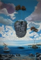 "Zamuel Hube ""My home is my castle"", Oil on canvas 2010, 150 x 100 cm"