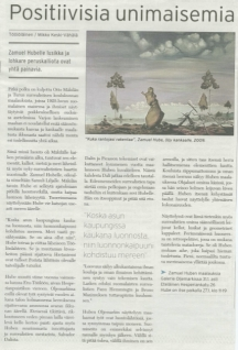 article about private exhibition in Gallerie Oljemark in 2010