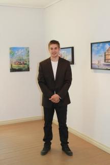 Zamuel Hube and his paintings in Salmela in 2011