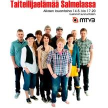 """TV-serie's """"Taiteilijaelämää Salmelassa"""" poster."""