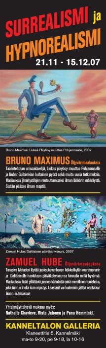 Exhibition in Kanneltalo gallery in Helsinki. Bruno Maximus, Zamuel Hube, Panu Hemminki, Nathalie Chavieve and Risto Jalonen